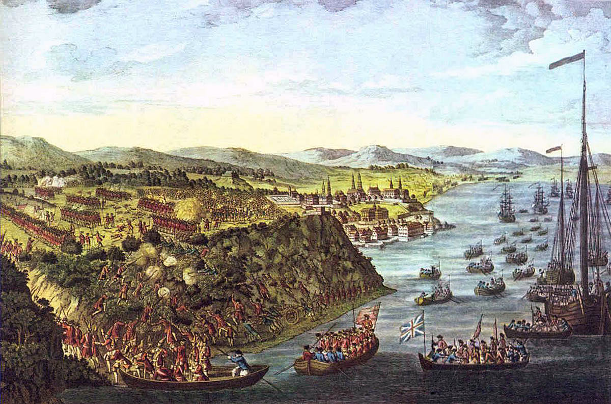 Battle of Quebec 13th September 1759 in the French and Indian War or the Seven Years War