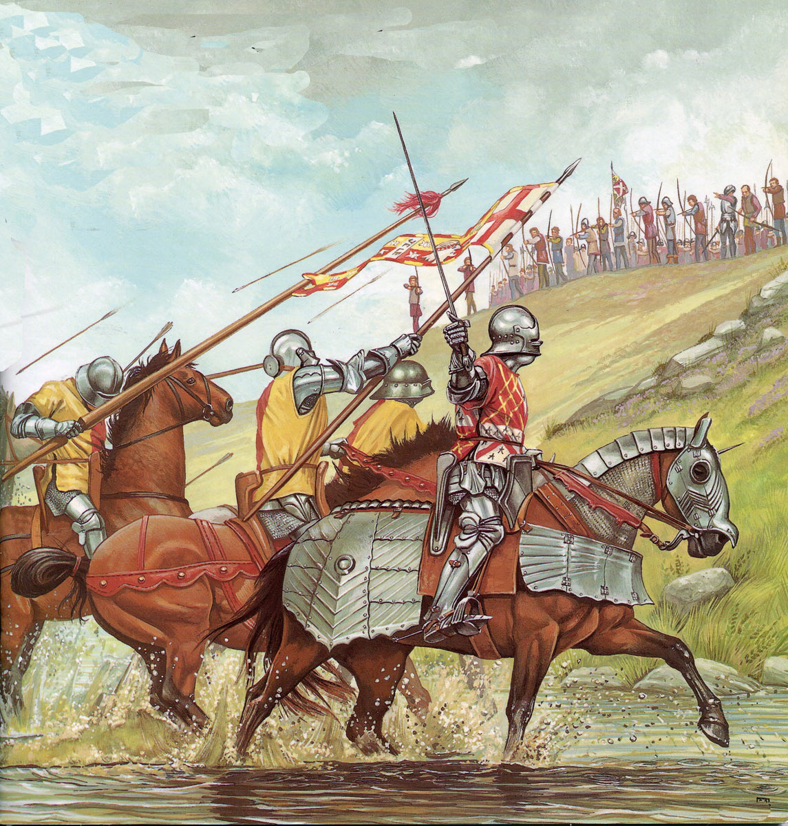 Battle of Blore Heath, fought on 23rd September 1459 in the Wars of the Roses