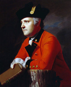 John Montresor, ensign in the 48th Foot in 1755, son of James Montresor, Braddock's chief engineer (but not with the Expedition to the Monongahela); painted in later life by John Singleton Copley