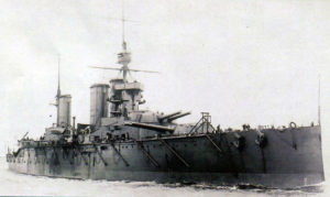 British Battle Cruiser HMS Princess Royal. Princess Royal fought at the Battle of Jutland on 31st May 1916 in Rear¬-Admiral O. de B. Brock's 1st Battle Cruiser Squadron part of Admiral Beatty's Battle Cruiser Fleet