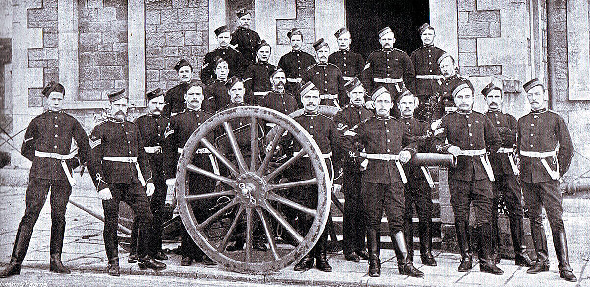 Non-commissioned officers of 63rd Battery Royal Field Artillery which fought at the Battle of Colenso on 15th December 1899