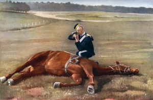 Trooper of the 6th Dragoon Guards in Home Service Uniform: the regiment was part of Dundonald's Mounted Brigade at the Battle of Colenso on 15th December 1899 during the Boer War
