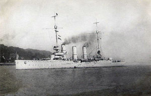 German Light Cruiser SMS Elbing sunk at the Battle of Jutland 31st May 1916