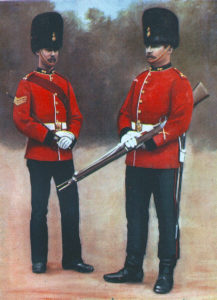 Royal Dublin Fusiliers in Home Service Uniform: the Regiment's First Battalion fought at the Battle of Colenso on 15th December 1899