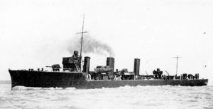 British Destroyer HMS Fortune. Fortune fought at the Battle of Jutland 31st May 1916 in the 4th Flotilla