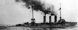 German Light Cruiser SMS Weisbaden sunk at the Battle of Jutland 31st May 1916