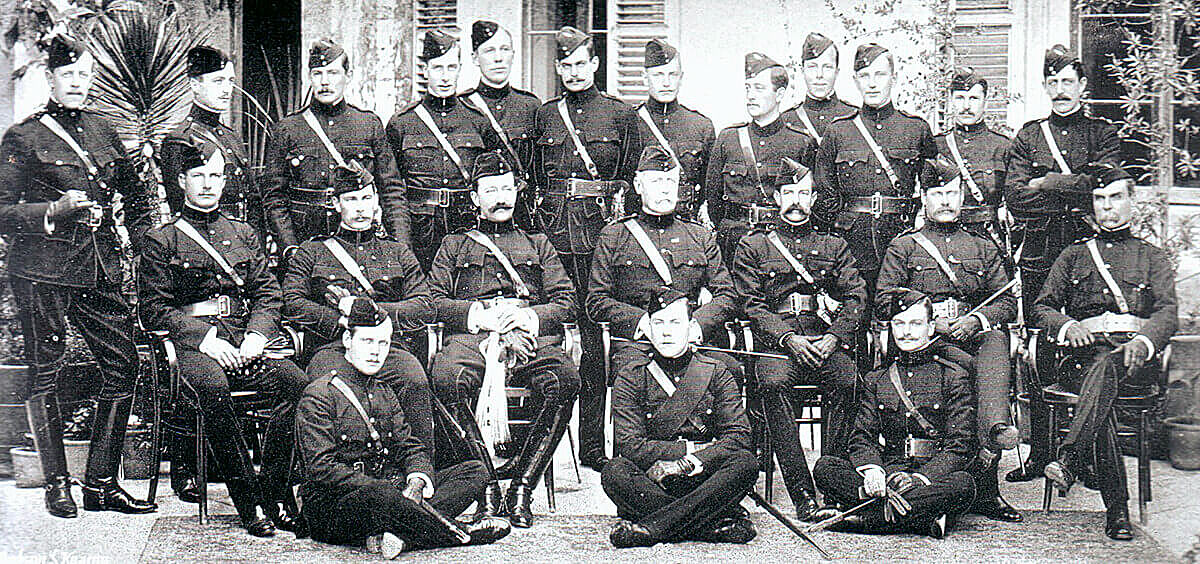 Officers of 1st Border Regiment: this battalion fought in Hart's Brigade at the Battle of Colenso on 15th December 1899