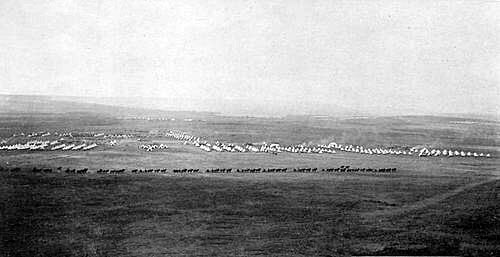 Estcourt camp in Natal before the Battle of Colenso on 15th December 1899