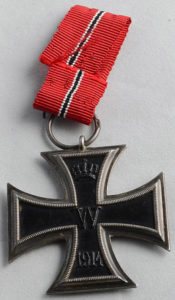 German Naval Iron Cross awarded for conduct at the Battle of Jutland on 31st May 1916