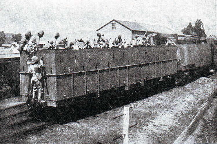 1st Royal Dublin Fusiliers on the Armoured Train in Natal in November 1899