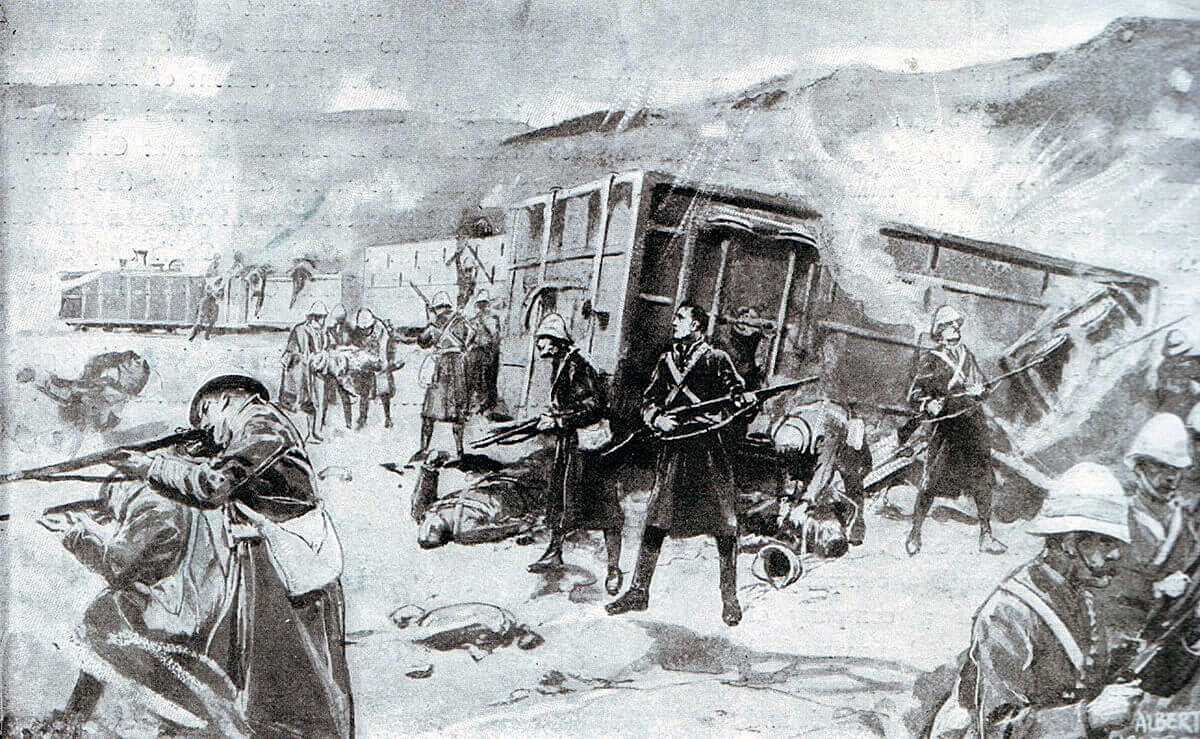 Disaster strikes the Armoured Train on 15th November 1899