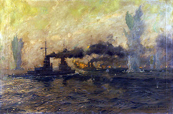 German High Seas Fleet during the night action Battle of Jutland 31st May 1916
