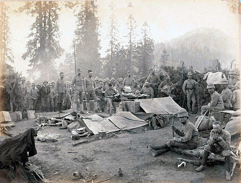 2nd Northumberland Fusiliers in camp: Black Mountain Expedition from 1st October 1888 to 13th November 1888 on the North-West Frontier of India