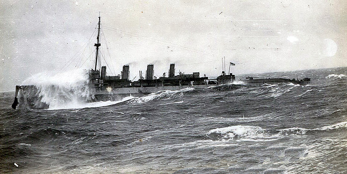 British Destroyer North Sea 1916