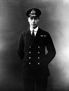 Prince Albert, later King George VI, as a naval officer. Prince Albert fought at the Battle of Jutland on 31st May 1916 on the British Battleship HMS Colossus and came under fire