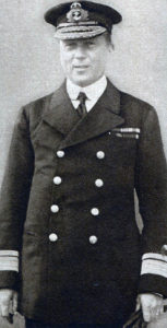 Rear-Admiral Hood commanding 3rd Battle Cruister Squadron at the Battle of Jutland on 31st May 1916. Admiral Hood was lost when his flagship HMS Invincible blew up
