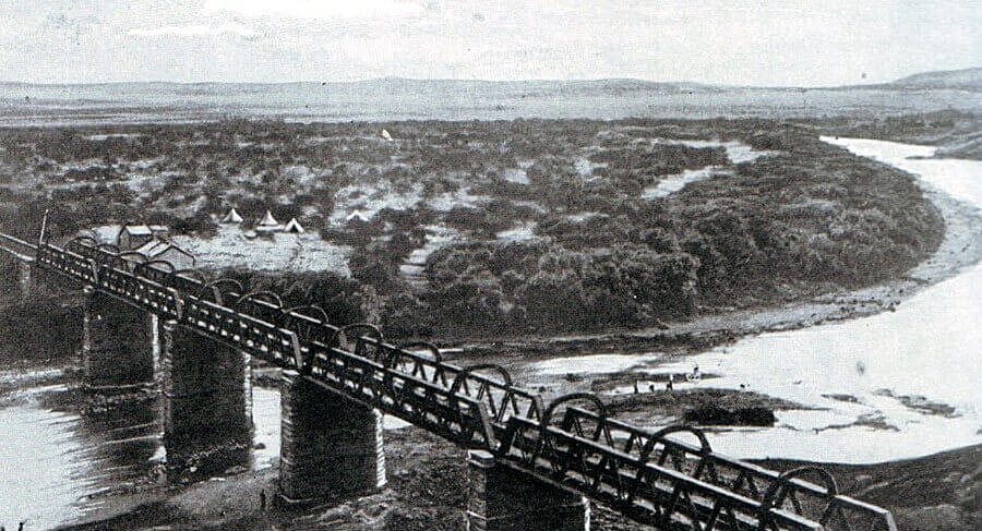 Colenso Railway Bridge, scene of the Battle of Colenso on 15th December 1899