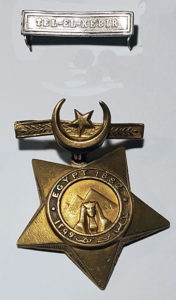 Khedive Star and Tel el Kebir clasp awarded to 361 Trumpeter Sundar Singh of 2nd Bengal Cavalry