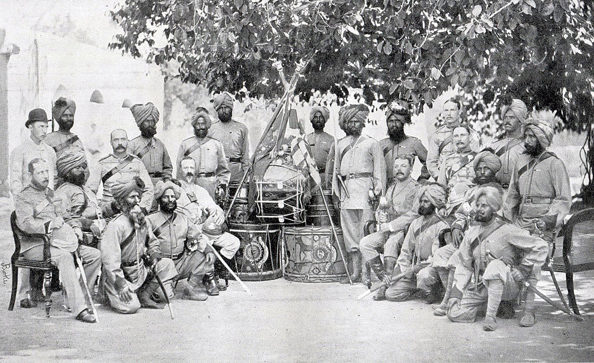 British and Indian Officers of the 2nd Sikhs: Black Mountain Expedition from 1st October 1888 to 13th November 1888 on the North-West Frontier of India