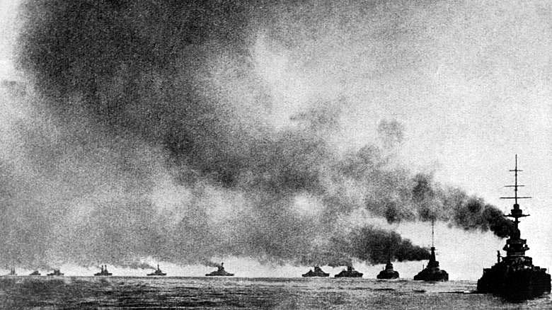 German Imperial High Seas Fleet at sea as at the Battle of Jutland on 31st May 1916