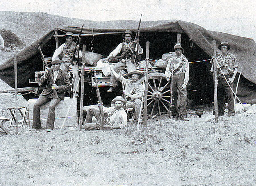 Boers on campaign during the Boer War