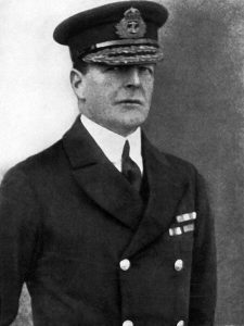 Vice-Admiral Sir David Beatty commanding the British Battle Cruiser Fleet at the Battle of Jutland 31st May 1916