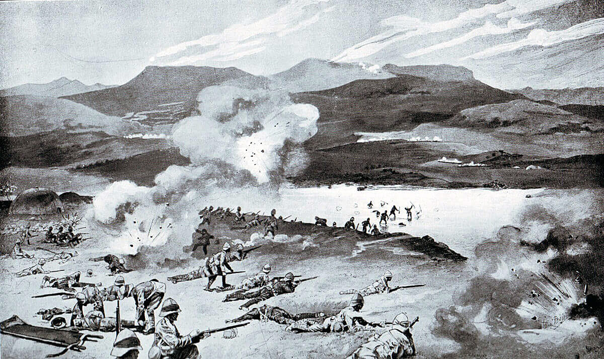 1st Royal Dublin Fusiliers attempting to cross the Tugela River at the Battle of Colenso on 15th December 1899