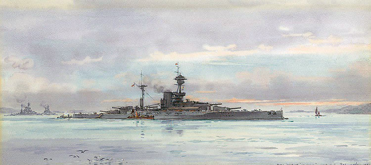 British Battleship HMS Revenge. Revenge fought at the Battle of Jutland 31st May 1916