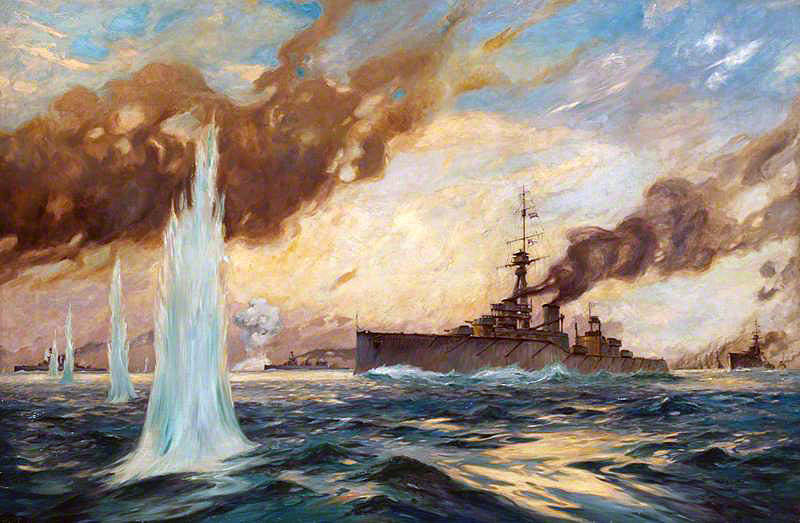 German Battle Cruiser's 'Ran an den feind' or Suicide Attack