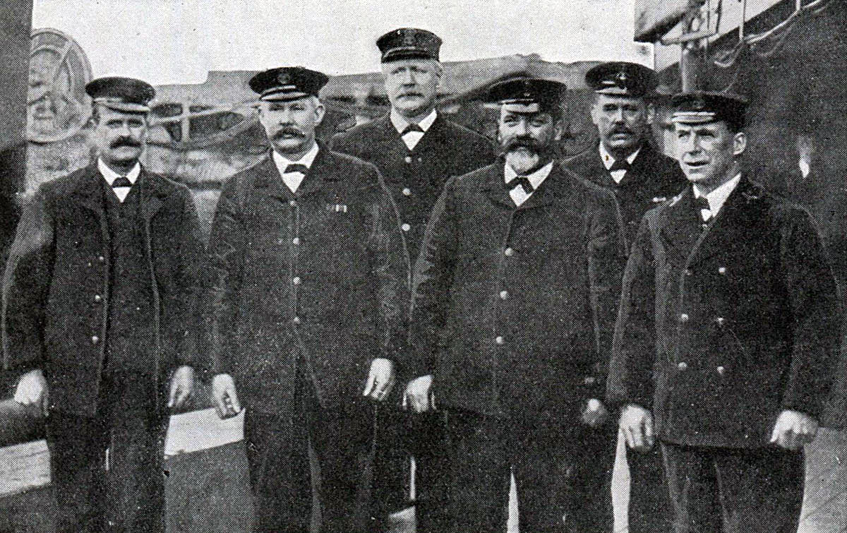 Chief Stokers on British Battle Cruiser HMS Queen Mary, all lost when Queen Mary blew up and sank during the Battle of Jutland on 31st May 1916