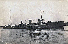 German Destroyer SMS B98. B98 was the 2nd Flotilla Leader at the Battle of Jutland on 31st May 1916