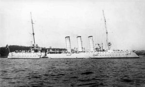 German Light Cruiser SMS München. München fought at the Battle of Jutland 31st May 1916 in the 4th Scouting Group