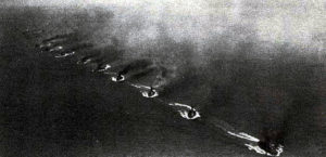 German Fleet practising the 'Turn Away' on manoeuvres