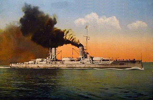 German Battleship SMS Kaiserin. Kaiserin fought at the Battle of Jutland on 31st May 1916