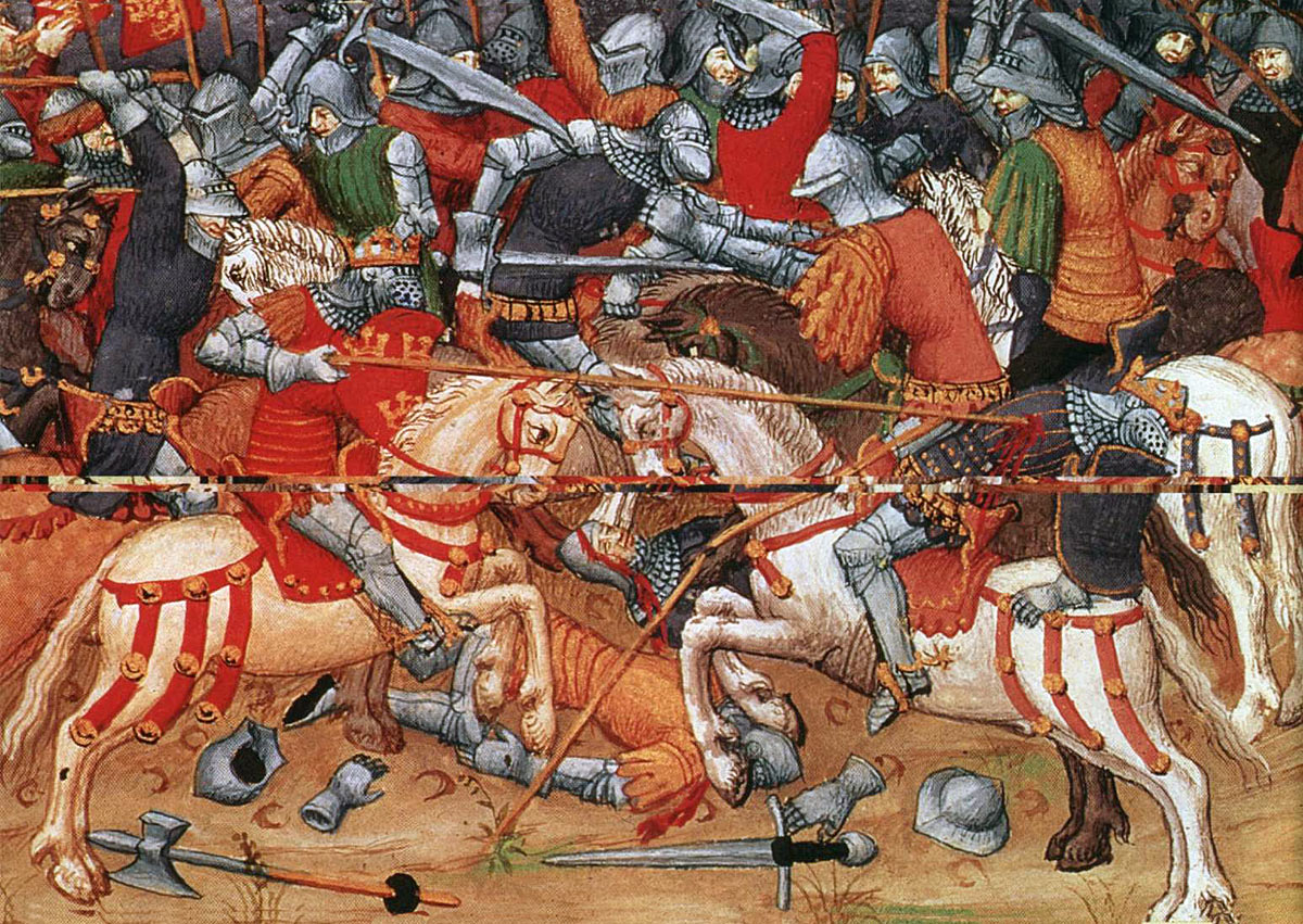 Defeat of Clifford: Battle of Towton fought on 29th March 1461 in the Wars of the Roses
