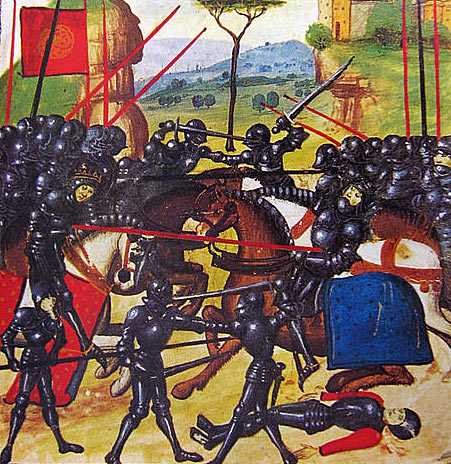 Battle of Barnet on 14th April 1471 in the Wars of the Roses