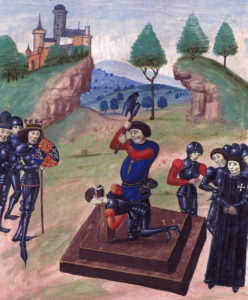Execution of the Duke of Somerset after the Battle of Tewkesbury on 4th May 1471 in the Wars of the Roses