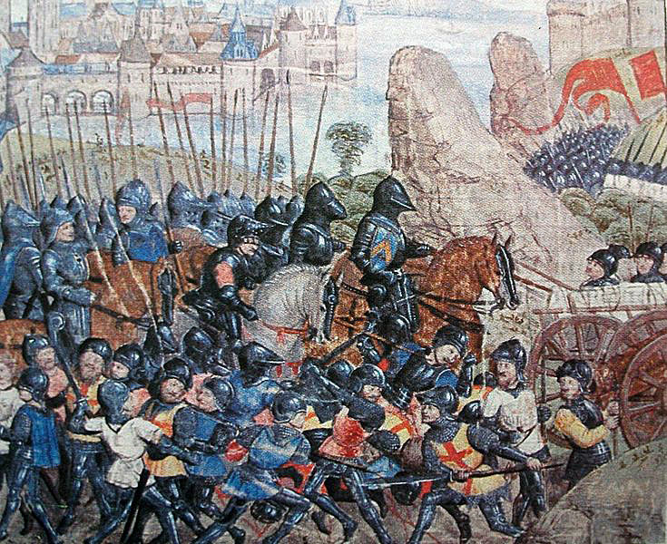 Lancastrian army at Gloucester: Battle of Tewkesbury on 4th May 1471 in the Wars of the Roses