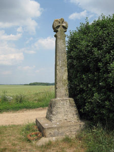 Dacre Cross: Battle of Towton fought on 29th March 1461 in the Wars of the Roses