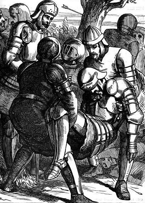 Death of the Duke of York at the Battle of Wakefield on 30th December 1460 in the Wars of the Roses
