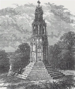 Eleanor Cross: Battle of Northampton on 10th July 1460 in the Wars of the Roses