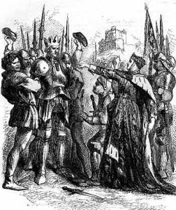 Duke of York in the mock coronation before being beheaded after the Battle of Wakefield on 30th December 1460 in the Wars of the Roses