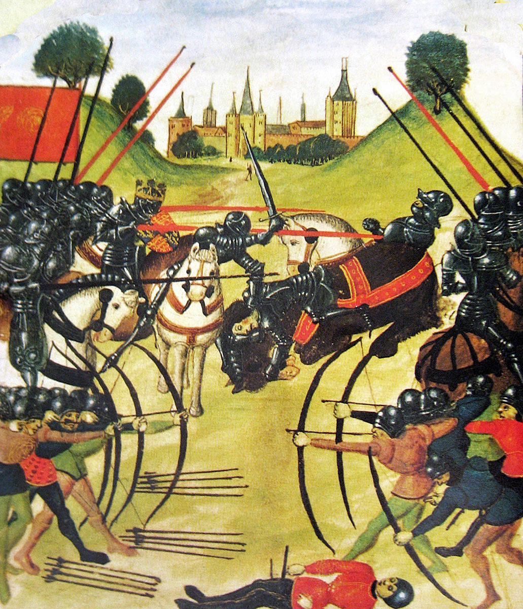Battle of Tewkesbury on 4th May 1471 in the Wars of the Roses