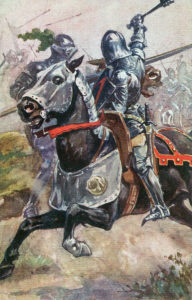 Battle of Wakefield on 30th December 1460 in the Wars of the Roses