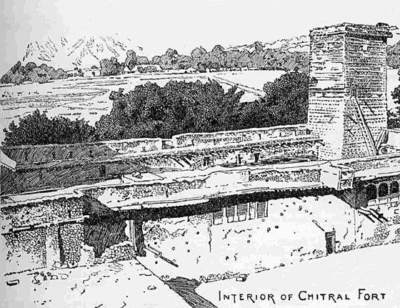 Interior of Chitral Fort: Siege and Relief of Chitral, 3rd March to 20th April 1895 on the North-West Frontier of India
