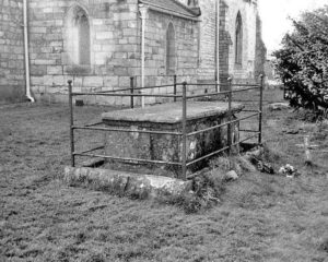Lord Dacre's tomb in Saxton Churchyard: Battle of Towton fought on 29th March 1461 in the Wars of the Roses