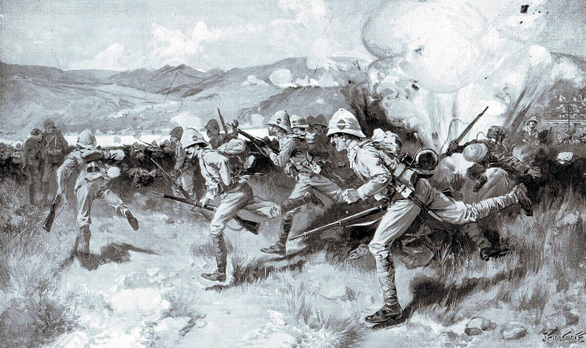 2nd Queen's West Surreys attacking at the Battle of Colenso on 15th December 1899: picture by Freddy Fortunato