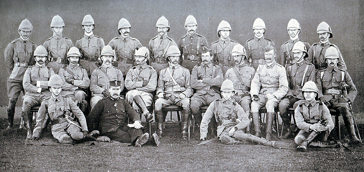 Officers of 1st Royal Dublin Fusiliers: the Battalion led Hart's disastrous attack at the Battle of Colenso on 15th December 1899