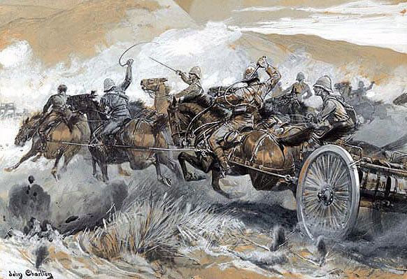 Rescuing the Guns at the Battle of Colenso on 15th December 1899 by John Charlton
