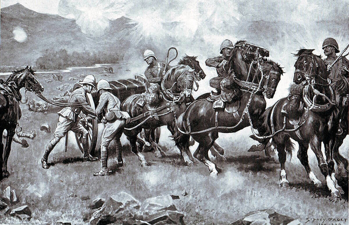 Saving the Guns at the Battle of Colenso on 15th December 1899 by Sidney Paget